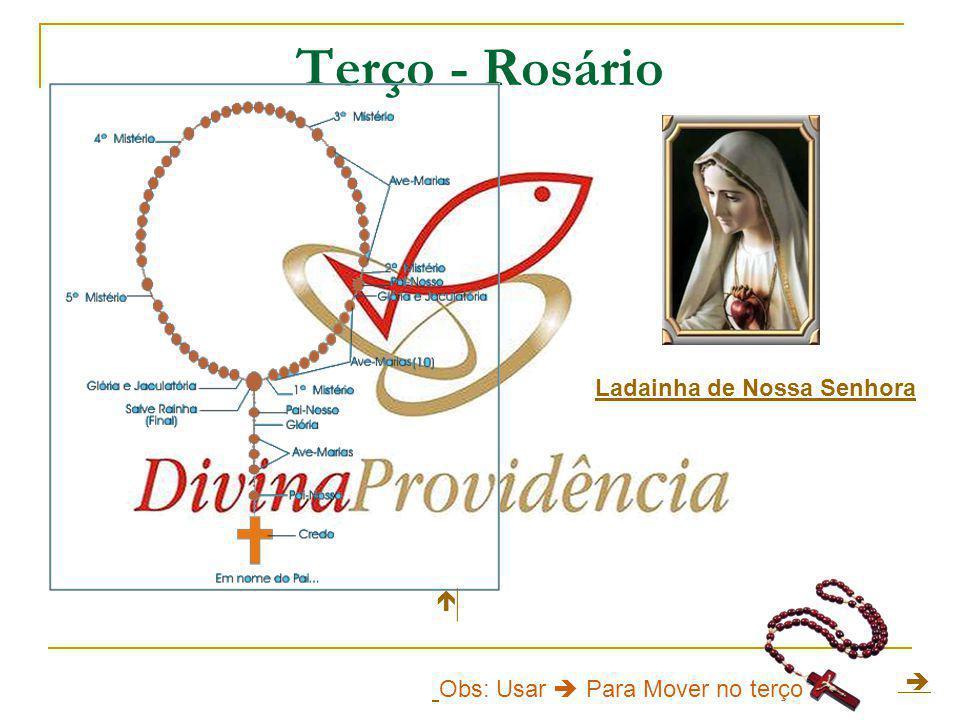 1º - Anunciação do anjo São Gabriel a Nossa Senhora (Lc 1,26- 38) Pai-nosso, dez Ave-marias, Glória ao Pai Jaculatória.Lc 1,26- 38Pai-nossoAve-mariasGlória ao Pai 2º - Visita de Nossa Senhora à sua prima Santa Isabel (Lc 1,39- 56) Pai-nosso, dez Ave-marias, Glória ao Pai Jaculatória.Lc 1,39- 56 Pai-nossoAve-mariasGlória ao Pai 3º - Nascimento de Jesus em Belém (Lc 2,1-21) Pai-nosso, dez Ave-marias, Glória ao Pai Jaculatória.Lc 2,1-21 Pai-nosso Ave-mariasGlória ao Pai 4º - Apresentação do Menino Jesus no templo (Lc 2,22-38) Pai- nosso, dez Ave-marias, Glória ao Pai Jaculatória.Lc 2,22-38 Pai- nossoAve-mariasGlória ao Pai 5º - Encontro de Jesus no templo entre os doutores da lei (Lc 2,40-50) Pai-nosso, dez Ave-marias, Glória ao Pai Jaculatória.