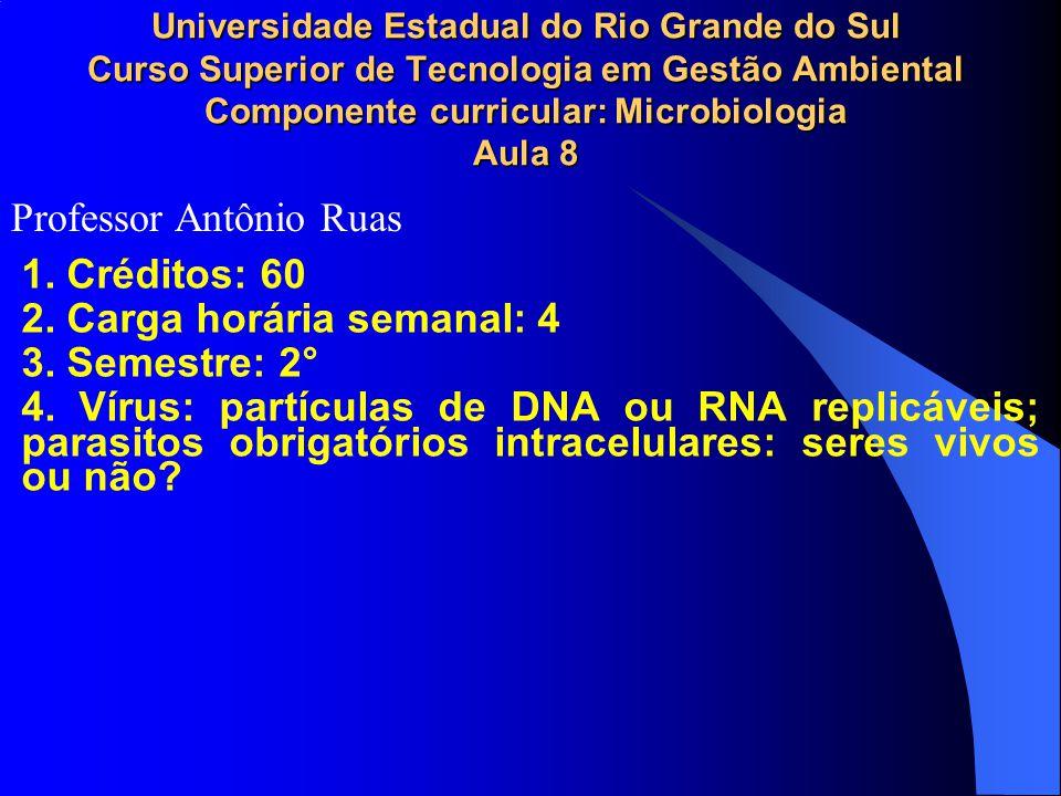 7.A Replicação viral. O DNA dupla hélice tem as vantagens da estabilidade e da fácil reparação.