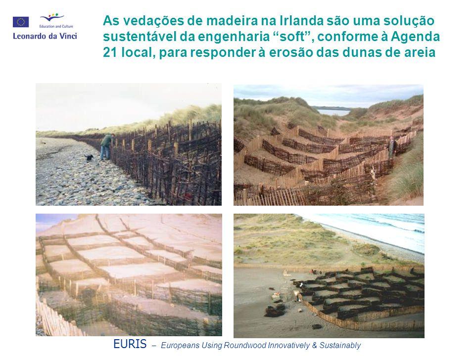 EURIS – Europeans Using Roundwood Innovatively & Sustainably As vedações de madeira na Irlanda são uma solução sustentável da engenharia soft , conforme à Agenda 21 local, para responder à erosão das dunas de areia