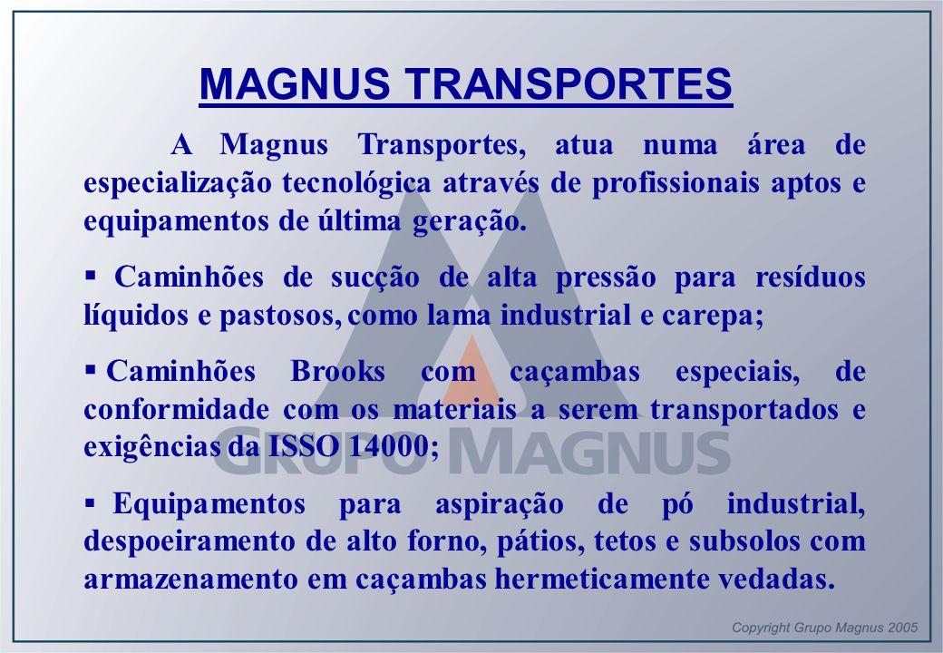A Magnus Transportes, atua numa área de especialização tecnológica através de profissionais aptos e equipamentos de última geração.  Caminhões de suc