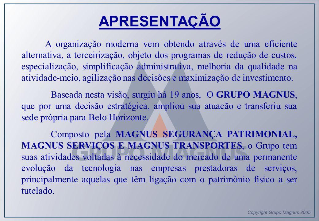 Os serviços são executados com zelo profissional, responsabilidade e qualidade, sob uma fiscalização constante e rigorosa de modo a conservar o ALTO PADRÃO DE QUALIDADE-MAGNUS , buscando a satisfação do cliente.