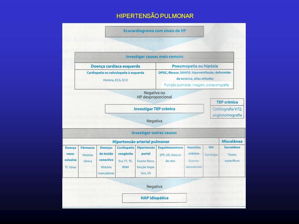HIPERTENSÃO PULMONAR Função pulmonar, imagem, polissonografia