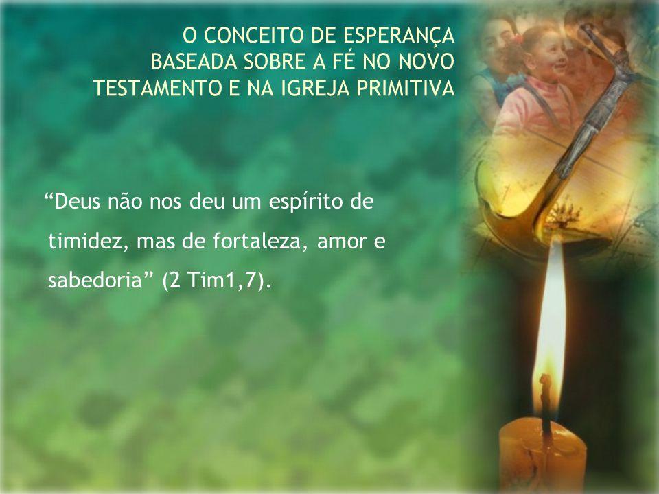 """""""Deus não nos deu um espírito de timidez, mas de fortaleza, amor e sabedoria"""" (2 Tim1,7). O CONCEITO DE ESPERANÇA BASEADA SOBRE A FÉ NO NOVO TESTAMENT"""