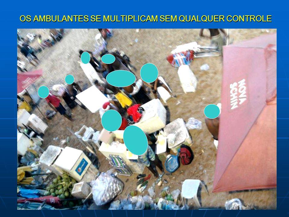 OS AMBULANTES SE MULTIPLICAM SEM QUALQUER CONTROLE