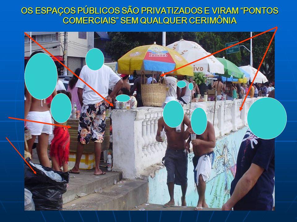 """OS ESPAÇOS PÚBLICOS SÃO PRIVATIZADOS E VIRAM """"PONTOS COMERCIAIS"""" SEM QUALQUER CERIMÔNIA"""