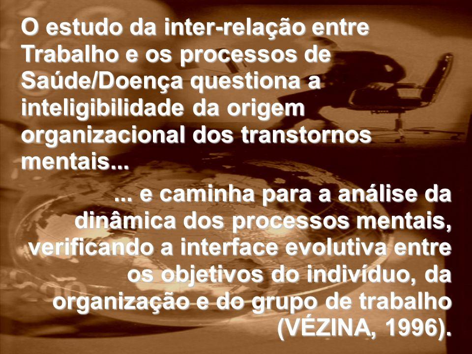 ... e caminha para a análise da dinâmica dos processos mentais, verificando a interface evolutiva entre os objetivos do indivíduo, da organização e do