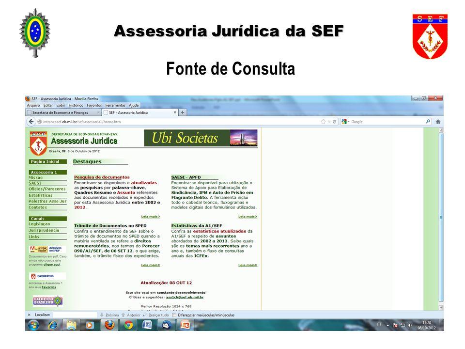 Assessoria Jurídica da SEF Fonte de Consulta