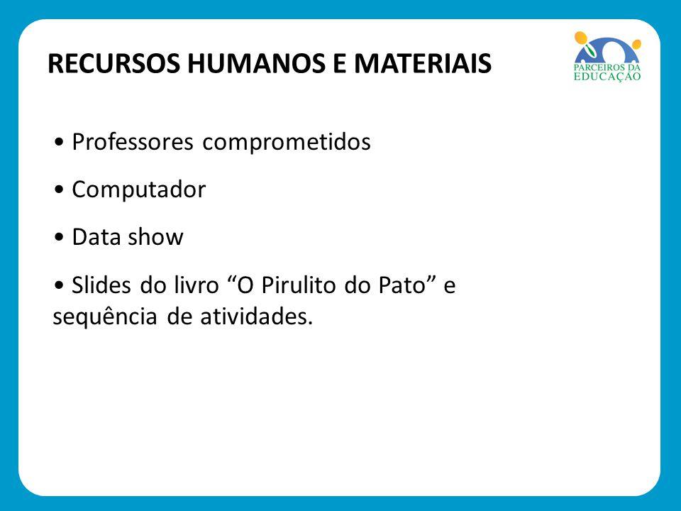 1º passo: Leitura do Livro: O PIRULITO DO PATO de Nilson José Machado.