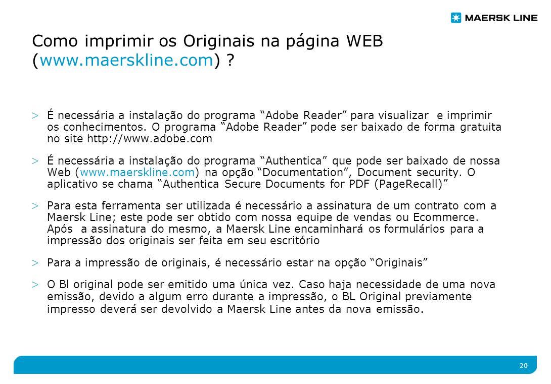 20 >É necessária a instalação do programa Adobe Reader para visualizar e imprimir os conhecimentos.