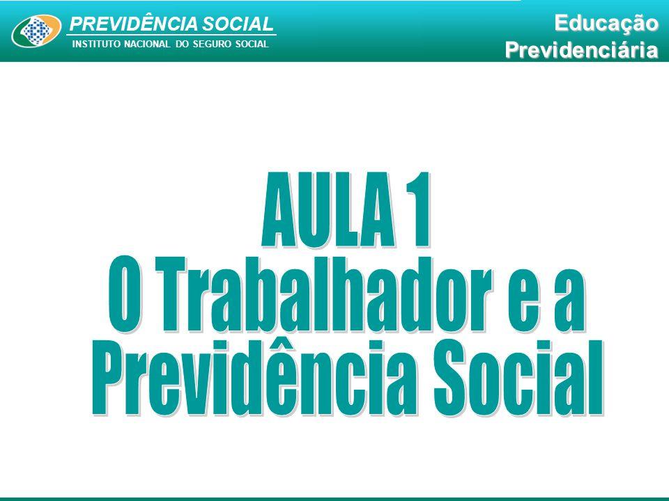 PREVIDÊNCIA SOCIAL INSTITUTO NACIONAL DO SEGURO SOCIAL EducaçãoPrevidenciária