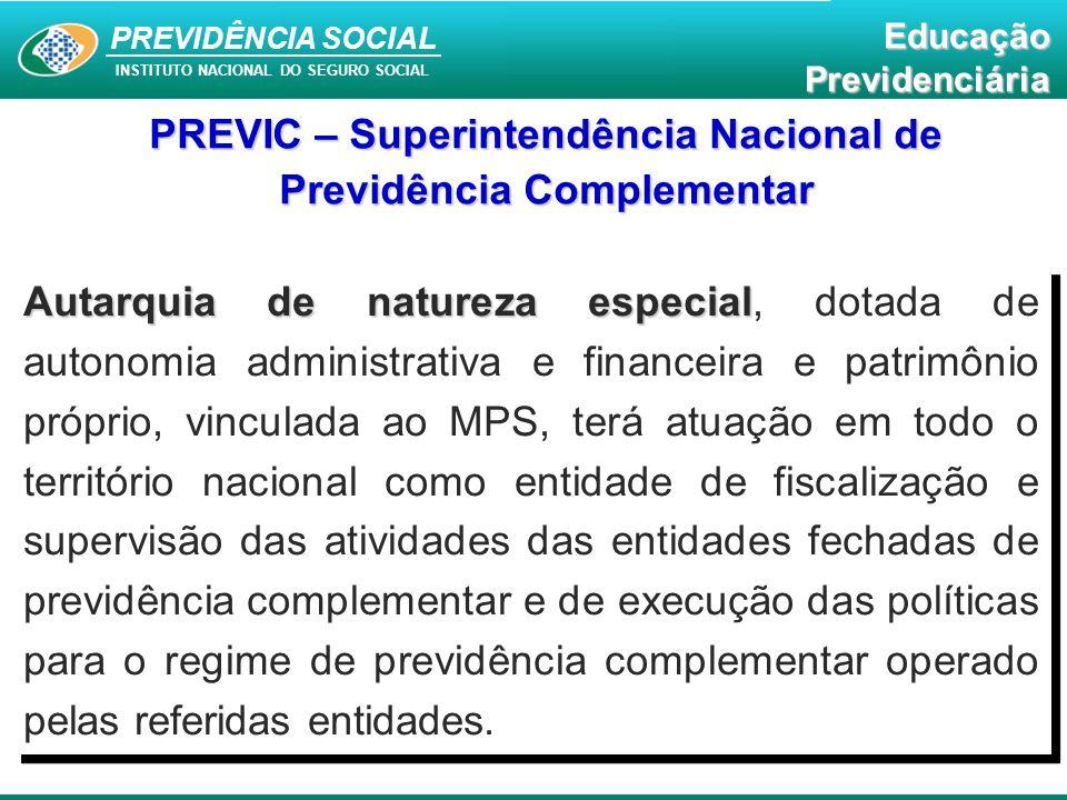 PREVIDÊNCIA SOCIAL INSTITUTO NACIONAL DO SEGURO SOCIAL EducaçãoPrevidenciária Autarquia de natureza especial Autarquia de natureza especial, dotada de
