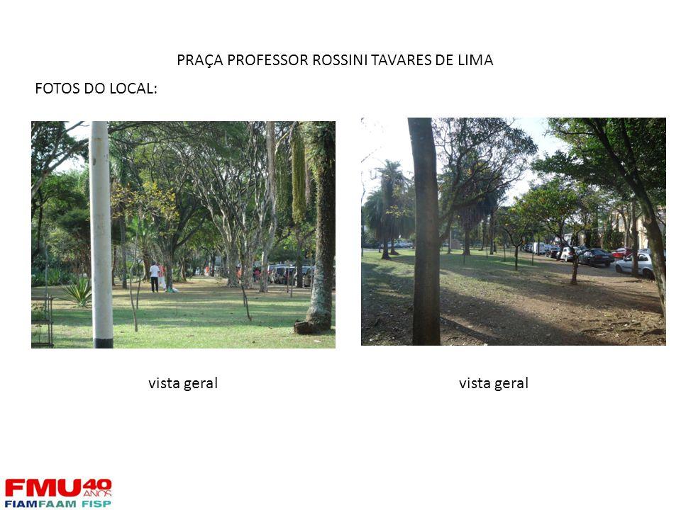 FOTOS DO LOCAL: vista geral PRAÇA PROFESSOR ROSSINI TAVARES DE LIMA