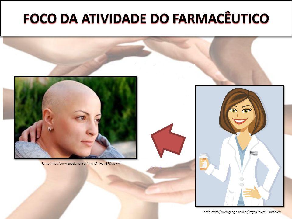 FOCO DA ATIVIDADE DO FARMACÊUTICO Fonte:http://www.google.com.br/imghp?hl=pt-BR&tab=wi