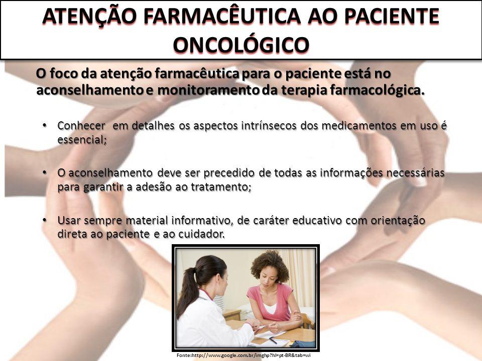 O foco da atenção farmacêutica para o paciente está no aconselhamento e monitoramento da terapia farmacológica. O foco da atenção farmacêutica para o