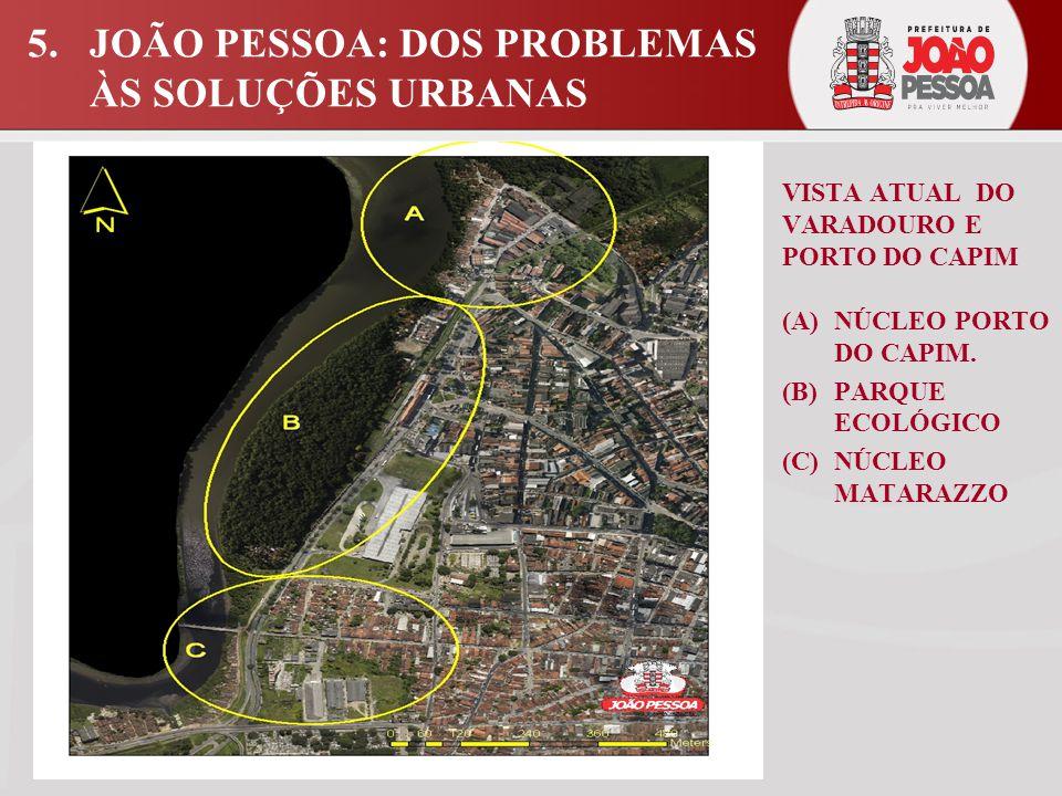 VISTA ATUAL DO VARADOURO E PORTO DO CAPIM (A) NÚCLEO PORTO DO CAPIM.
