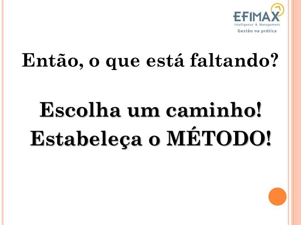 Método Conhecimento do Processo Liderança Falconi (2009) F ATORES QUE GARANTEM RESULTADOS
