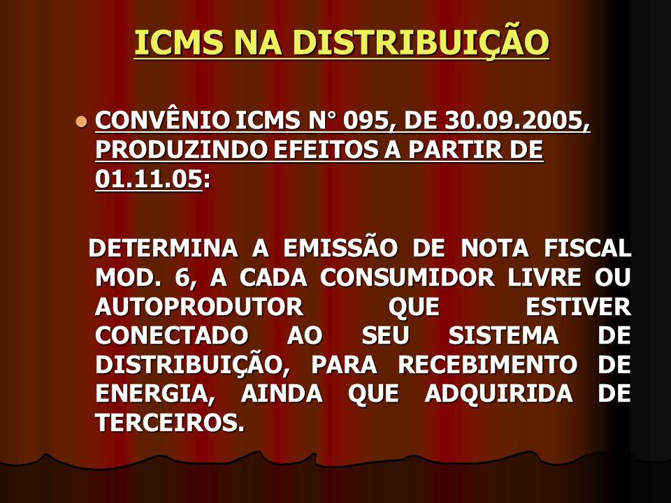 CONVÊNIO ICMS N° 095, DE 30.09.2005, PRODUZINDO EFEITOS A PARTIR DE 01.11.05: CONVÊNIO ICMS N° 095, DE 30.09.2005, PRODUZINDO EFEITOS A PARTIR DE 01.1