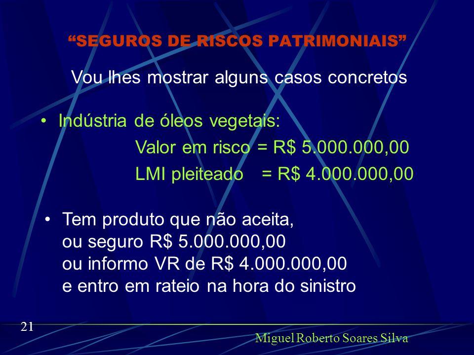 Miguel Roberto Soares Silva 20 Tenho certeza que não, o segurado quer comprar um seguro adequado a sua atividade e as suas necessidades.
