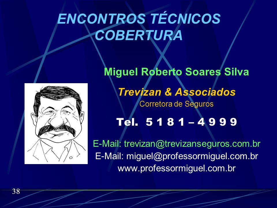 SEGUROS DE RISCOS PATRIMONIAIS Miguel Roberto Soares Silva O nosso tema é longo porém o nosso tempo é curto.
