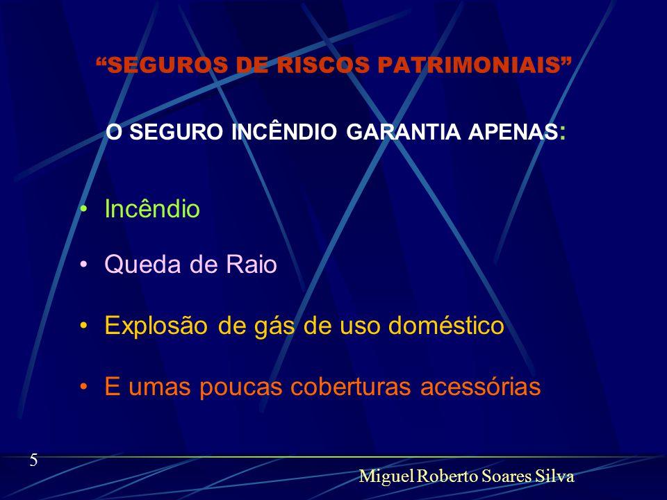 Miguel Roberto Soares Silva 4 'SEGUROS DE RISCOS PATRIMONIAIS Para falarmos do presente temos que fazer uma pequena regressão.