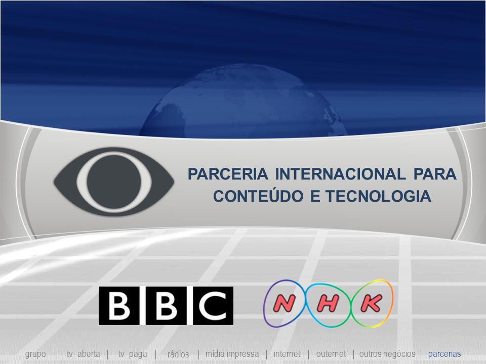 PARCERIA INTERNACIONAL PARA CONTEÚDO E TECNOLOGIA grupo tv abertatv paga rádios mídia impressaoutros negóciosparcerias internet outernet