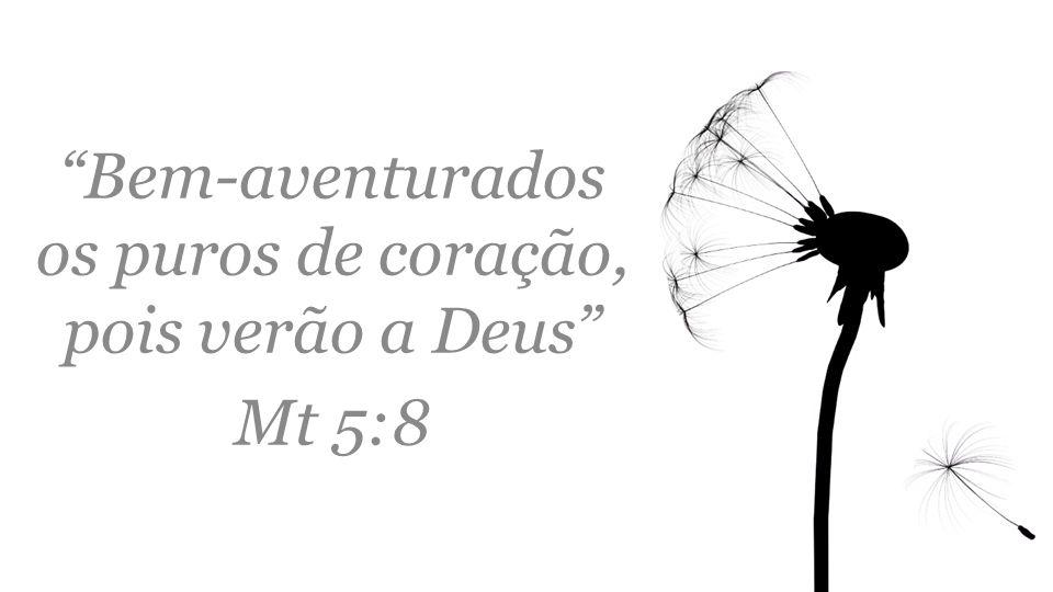 """""""Bem-aventurados os puros de coração, pois verão a Deus"""" Mt 5:8"""