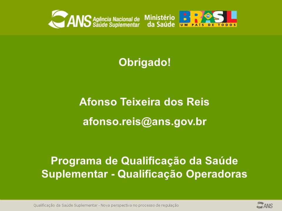 Qualificação da Saúde Suplementar - Nova perspectiva no processo de regulação Obrigado.