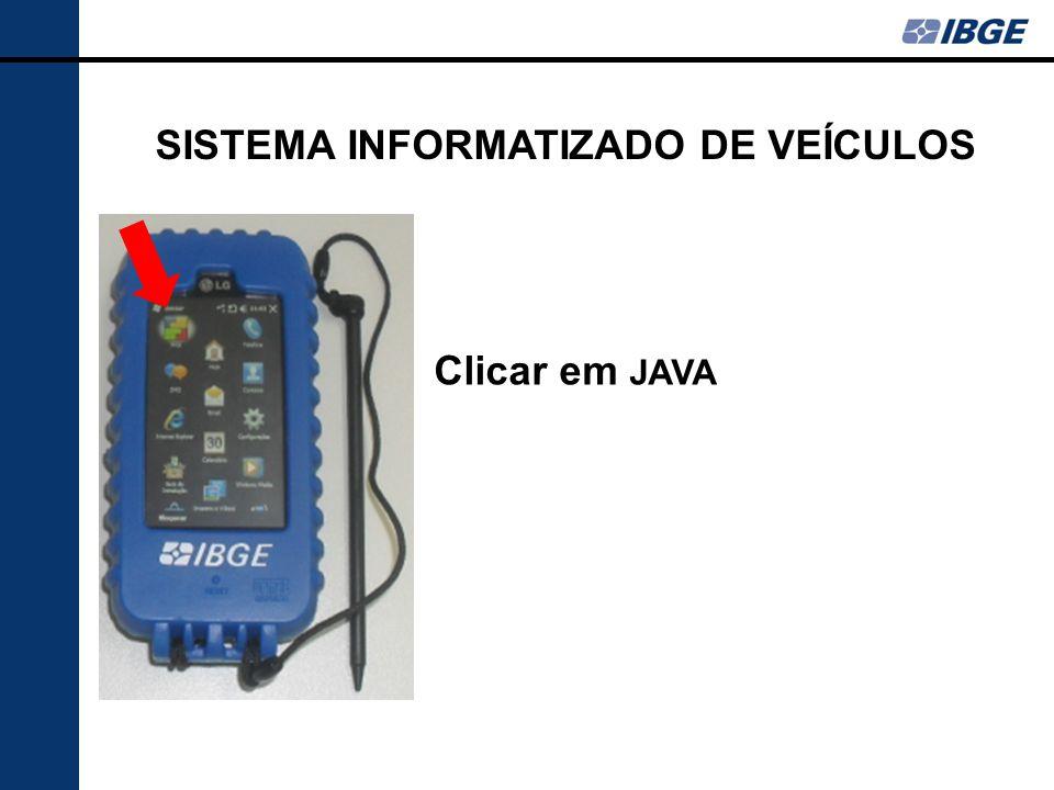 Clicar em JAVA SISTEMA INFORMATIZADO DE VEÍCULOS