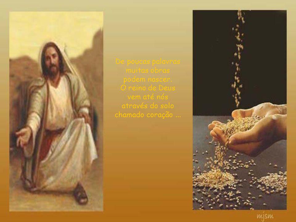 O Semeador-Jesus é habilidoso A semente-palavra é boa... a capacidade da germinação depende da natureza do solo. Ele pode ser arado, adubado, fertiliz