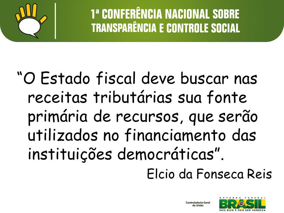 O Estado fiscal deve buscar nas receitas tributárias sua fonte primária de recursos, que serão utilizados no financiamento das instituições democráticas .