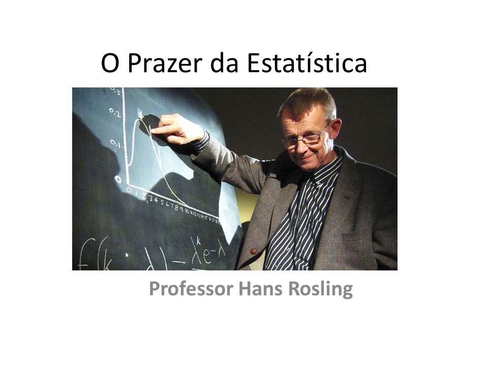 O Prazer da Estatística Professor Hans Rosling