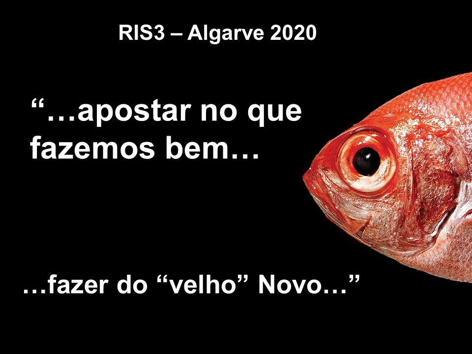 """""""…apostar no que fazemos bem… RIS3 – Algarve 2020 …fazer do """"velho"""" Novo…"""""""