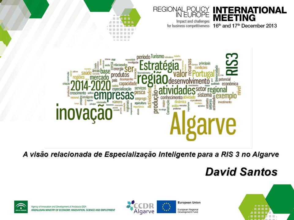 A visão relacionada de Especialização Inteligente para a RIS 3 no Algarve David Santos