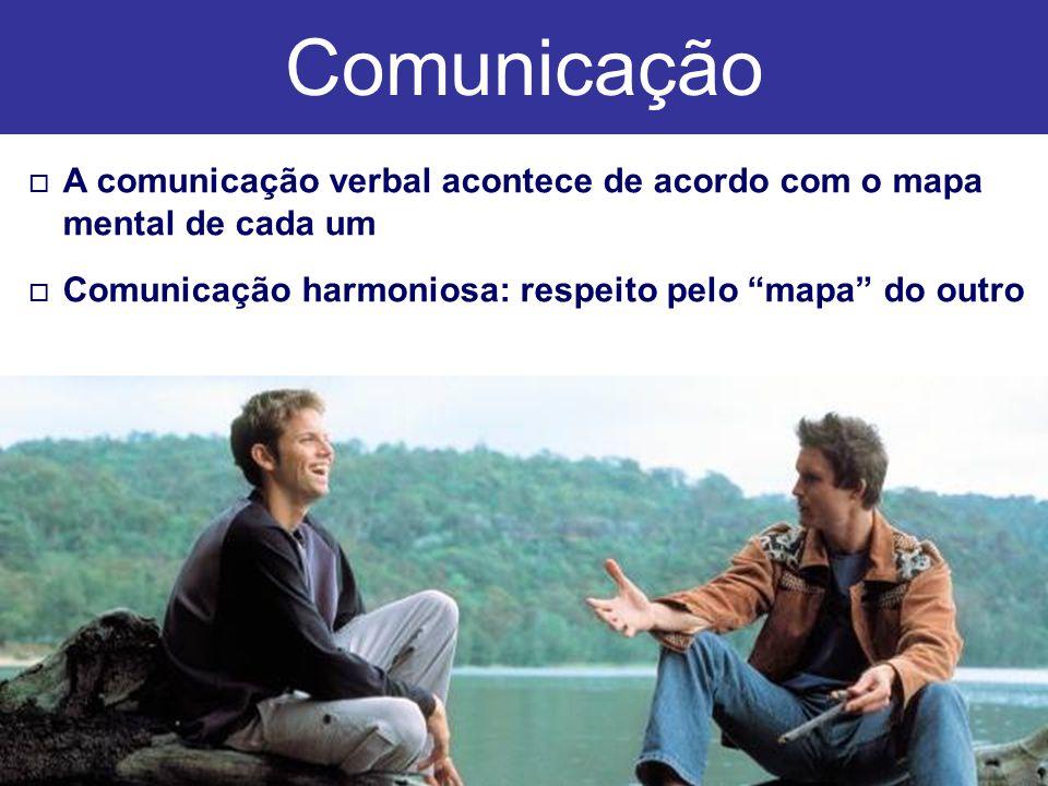 o o A comunicação verbal acontece de acordo com o mapa mental de cada um o o Comunicação harmoniosa: respeito pelo mapa do outro Comunicação