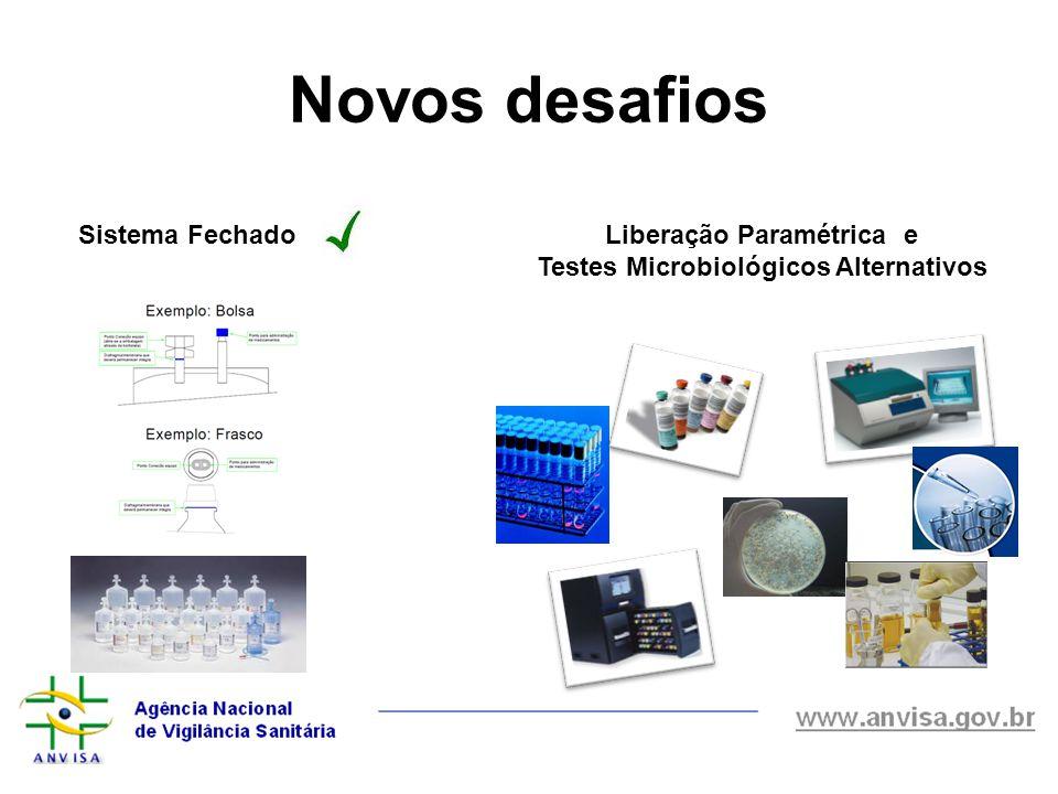 Novos desafios Sistema FechadoLiberação Paramétrica e Testes Microbiológicos Alternativos
