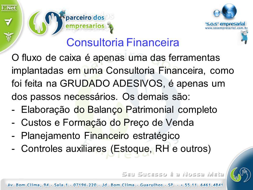 Consultoria Financeira O fluxo de caixa é apenas uma das ferramentas implantadas em uma Consultoria Financeira, como foi feita na GRUDADO ADESIVOS, é