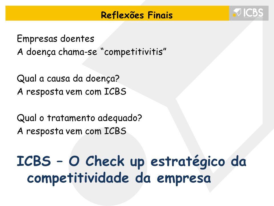 """Empresas doentes A doença chama-se """"competitivitis"""" Qual a causa da doença? A resposta vem com ICBS Qual o tratamento adequado? A resposta vem com ICB"""