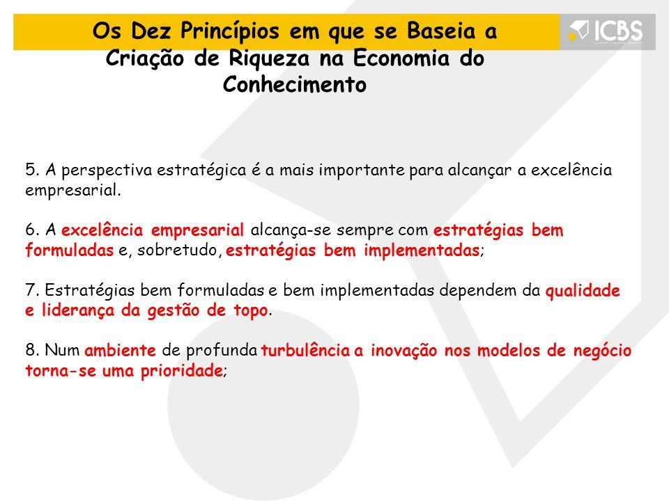 5.A perspectiva estratégica é a mais importante para alcançar a excelência empresarial.