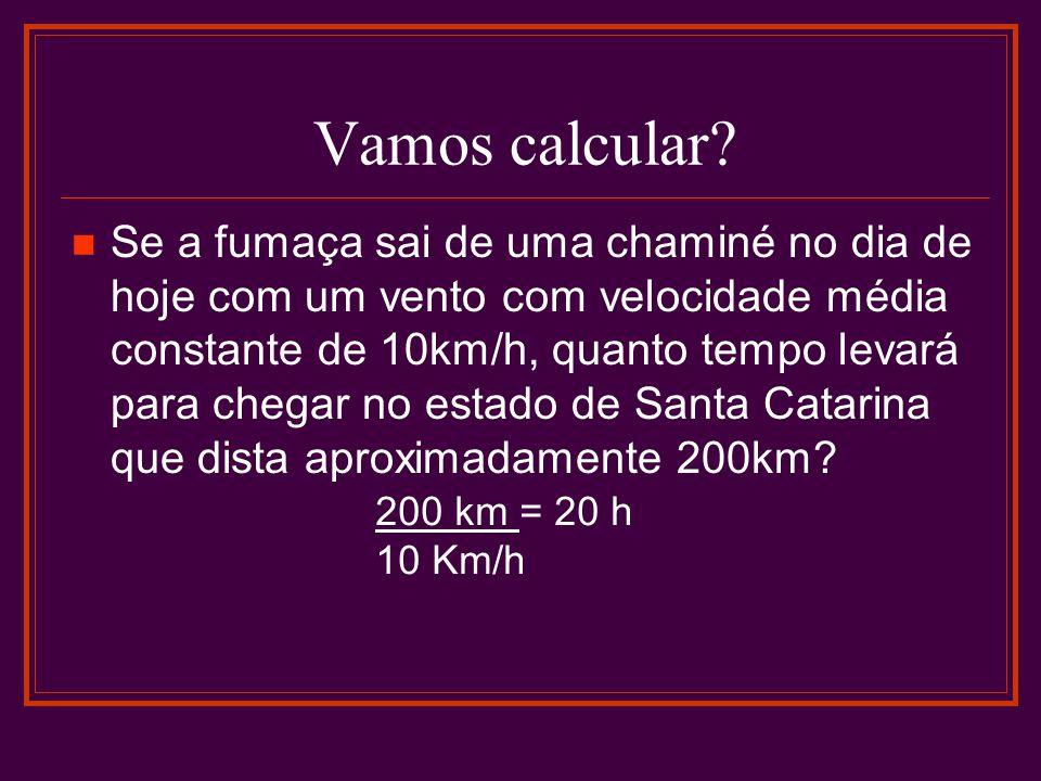 Vamos calcular.