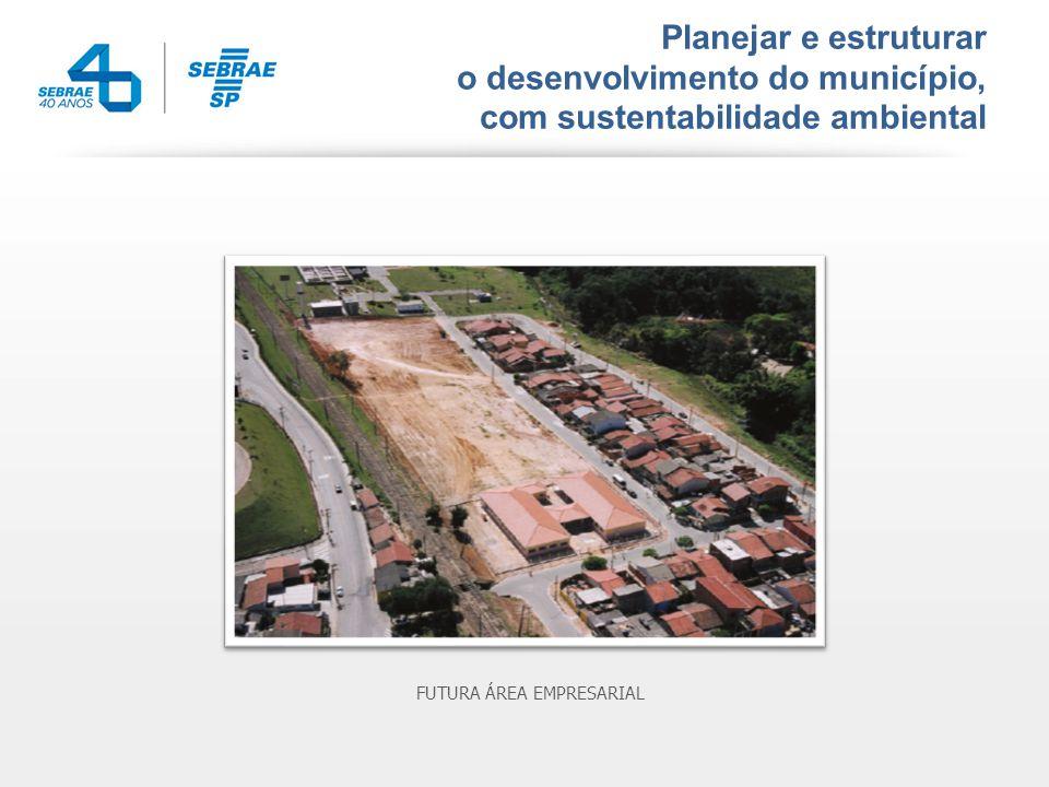Planejar e estruturar o desenvolvimento do município, com sustentabilidade ambiental FUTURA ÁREA EMPRESARIAL