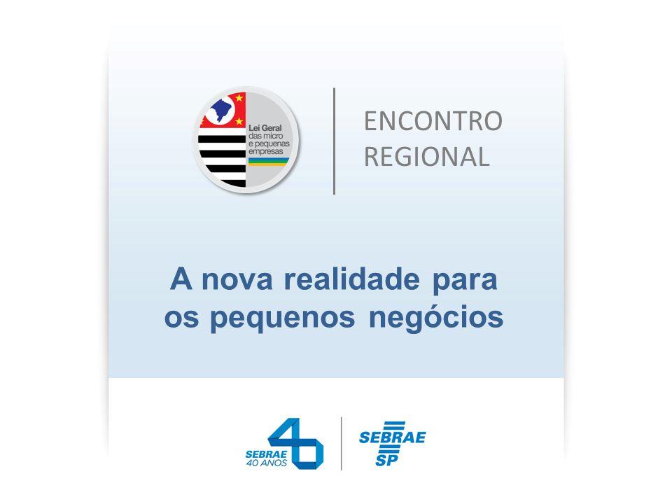 Ações Típicas do Sebrae-SP Atender as micro e pequenas empresas da região Atender aos futuros empreendedores da região (Reduzir a Informalidade, etc) Atuar para melhorar o ambiente empreendedor