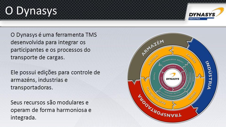 O Dynasys O Dynasys é uma ferramenta TMS desenvolvida para integrar os participantes e os processos do transporte de cargas. Ele possui edições para c