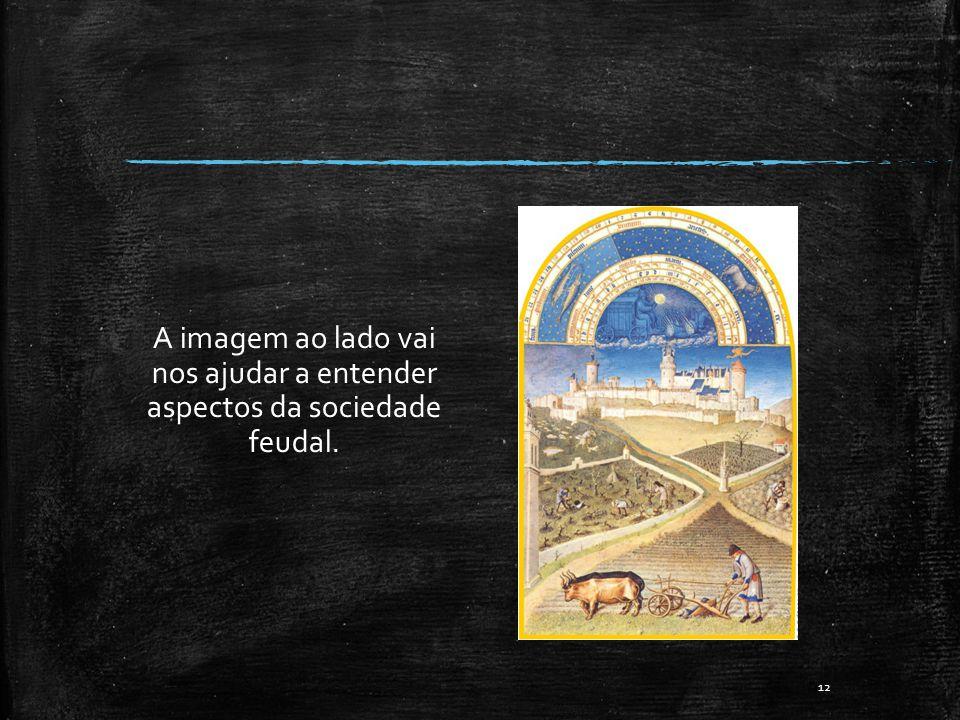 A imagem ao lado vai nos ajudar a entender aspectos da sociedade feudal. 12
