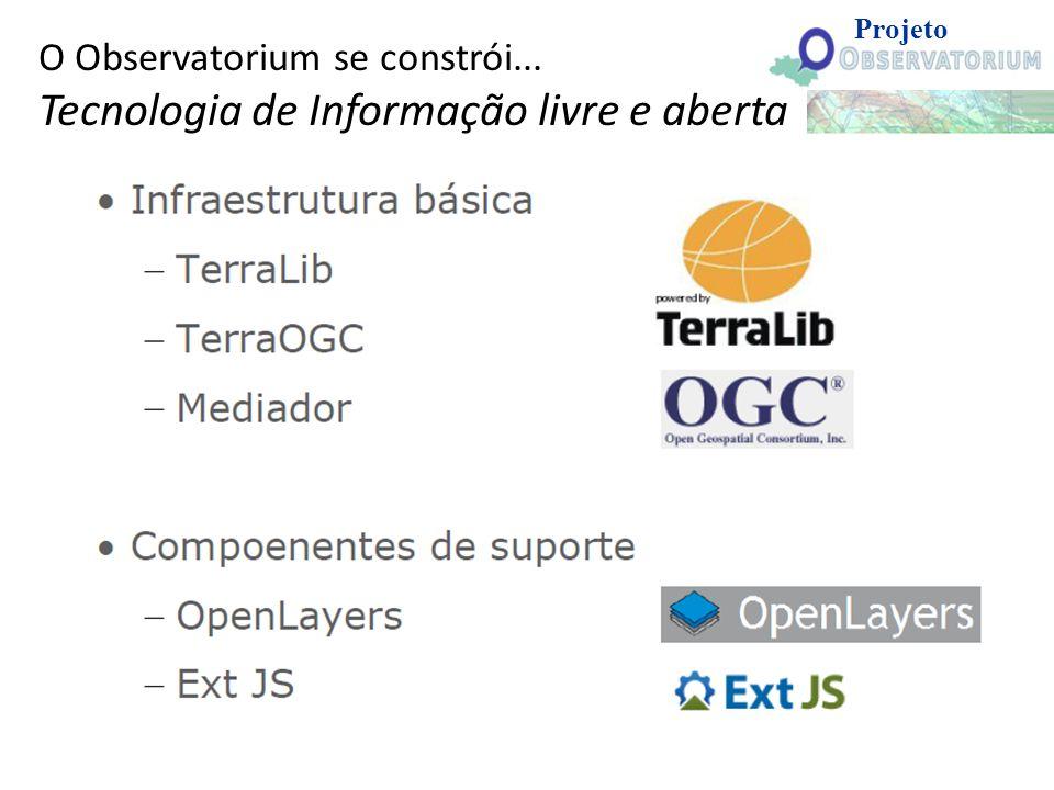 O Observatorium se constrói... Tecnologia de Informação livre e aberta Projeto