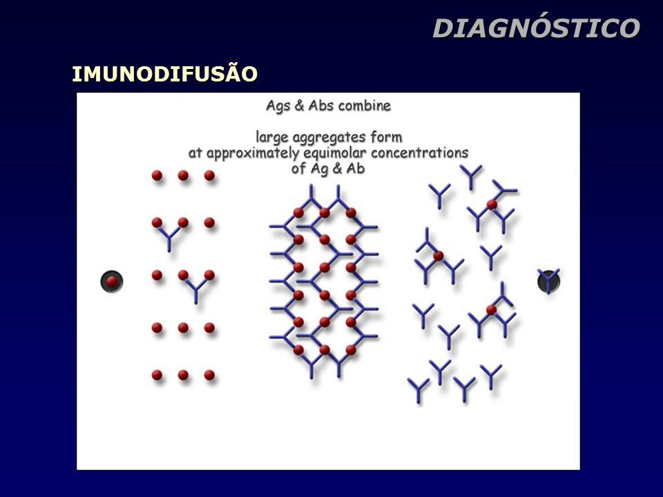 DIAGNÓSTICO IMUNODIFUSÃO
