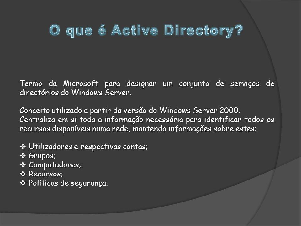 Termo da Microsoft para designar um conjunto de serviços de directórios do Windows Server.
