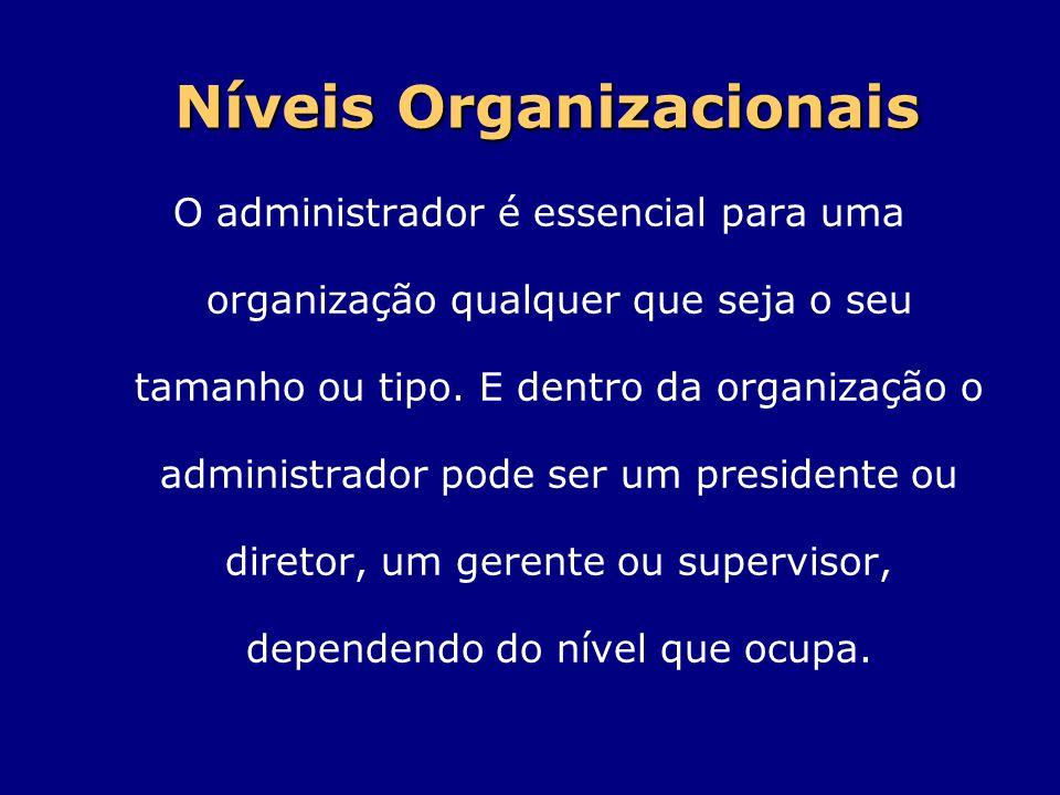 O administrador é essencial para uma organização qualquer que seja o seu tamanho ou tipo. E dentro da organização o administrador pode ser um presiden