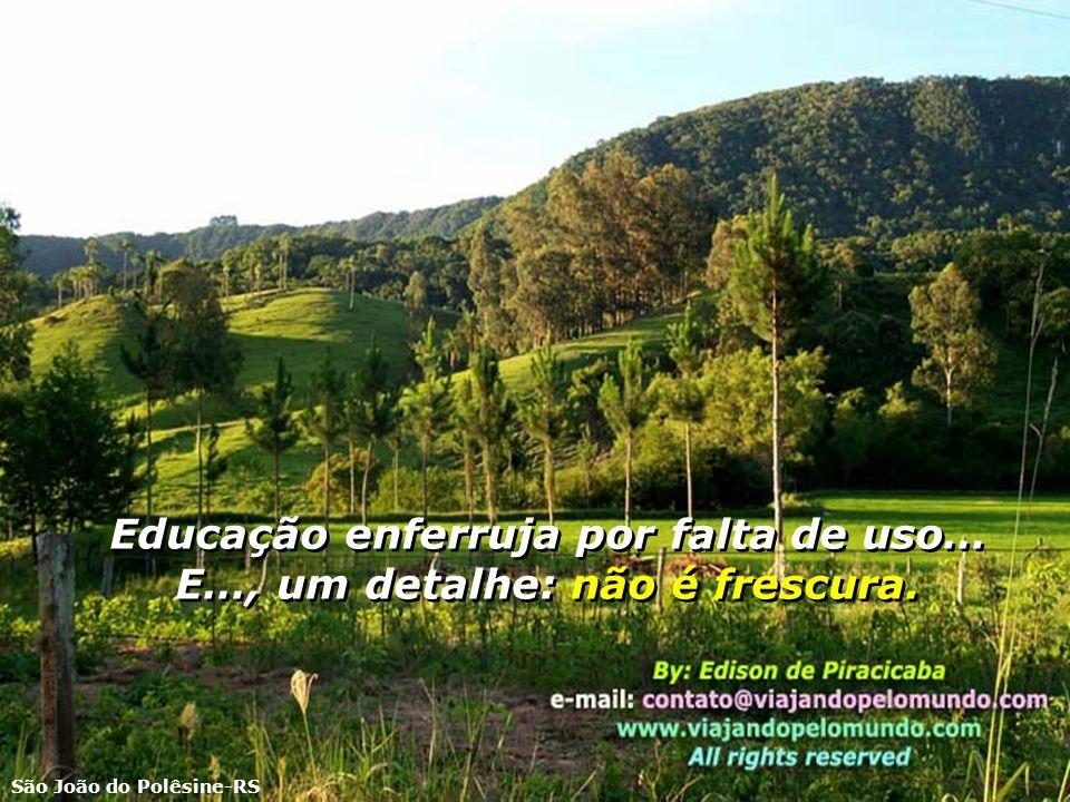 Se os amigos não merecem uma certa cordialidade, os desafetos é que não irão desfrutá-la… Niterói-RJ