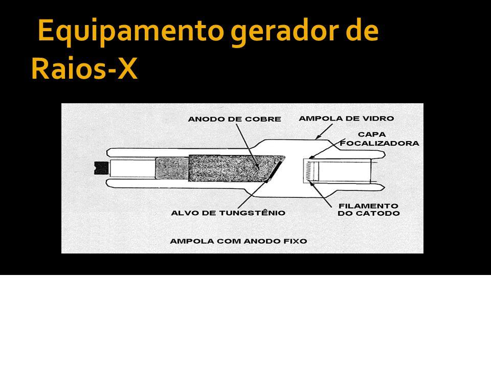 Equipamento gerador de Raios-X É um disco feito atualmente de uma liga de tungstênio-rênio com alguns milímetros de espessura, fixado sobre um eixo de molibdênio ou cobre.