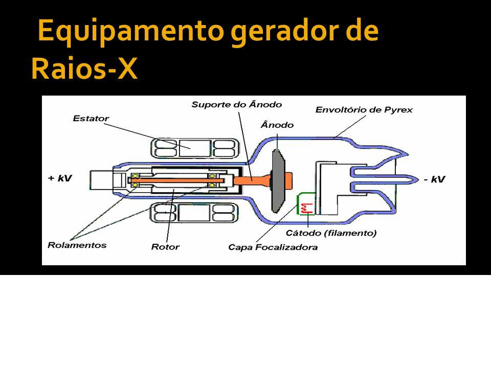 Equipamento gerador de Raios-X A cúpula(carcaça) corresponde a um envólucro metálico revestido internamente por chumbo.